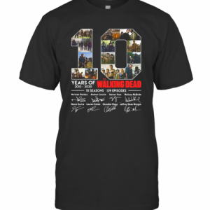 10 Years Of The Walking Dead Signature T-Shirt Classic Men's T-shirt