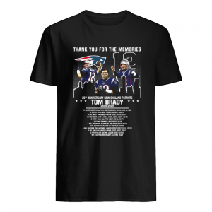 12 Tom Brady 20th Anniversary New England Patriots 2000 2020 Patriots Thank You For The Memories  Classic Men's T-shirt