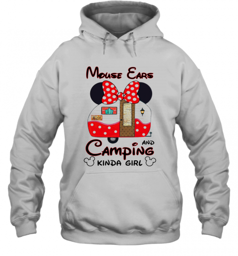 Mouse Ears Camping Kinda Girl T-Shirt Unisex Hoodie