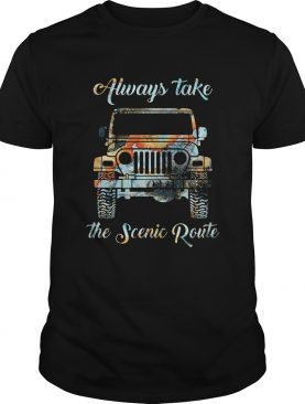 Always take the scenic route car shirt