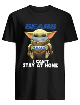 Baby Yoda Face Mask Sears Can't Stay At Home shirt