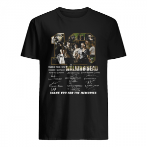 10 years of 2010 2020 10 seasons 146 episodes the walking dead thank you for the memories signatures  Classic Men's T-shirt