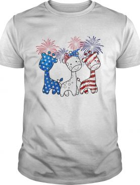 Baby Giraffes Happy American Independence Day shirt