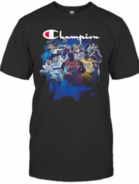 Champion All Legends Players Nba Signatures T-Shirt