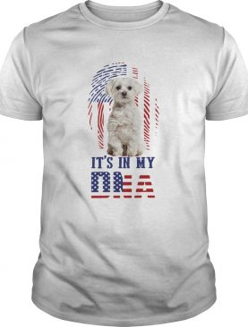 Its In My Dna Dog American Flag shirt