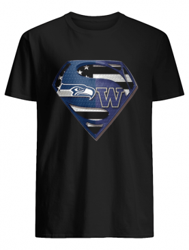 Seattle Seahawks And Washington Huskies Superman shirt