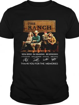The Ranch Tv Series 20162020 Signature Thank You For The Memories shirt