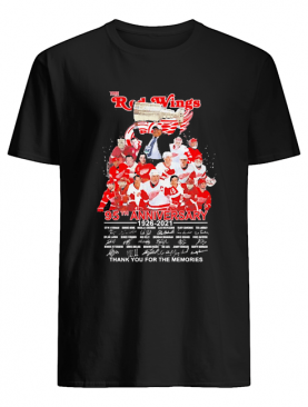 The red wings 95th anniversary 1926 2021 thank you for the memories signatures shirt