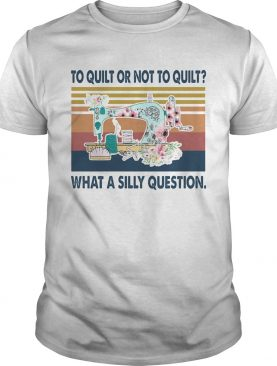 To quilt or not quilt what a silly question vintage shirt
