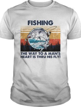 Fishing the way to a mans heart is thru his fly vintage retro shirt