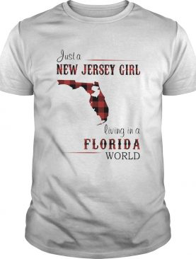 Just a new Jersey girl living in a florida world map shirt