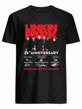 Linkin park 25th anniversary 1996 2021 thank you for the memories signatures shirt
