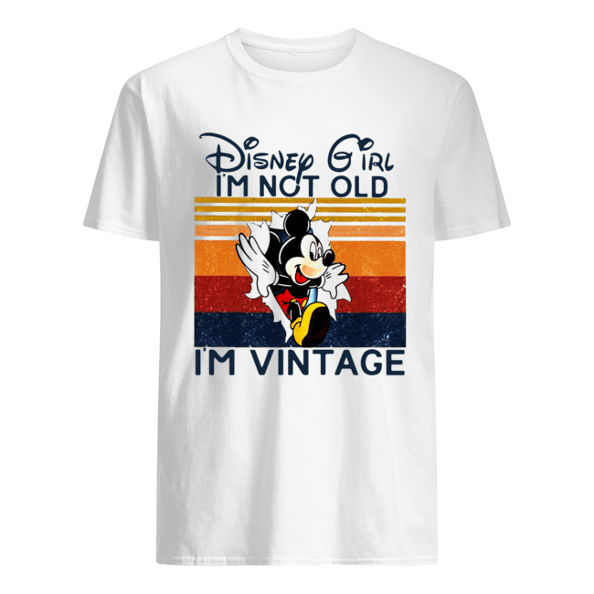 Mickey Mouse Disney Girl I'm Not Old I'm Vintage Classic Men's T-shirt