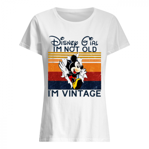 Mickey Mouse Disney Girl I'm Not Old I'm Vintage  Classic Women's T-shirt