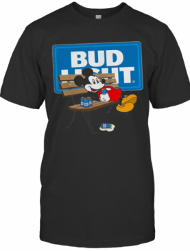 Mickey Mouse Drinking Bud Light T-Shirt