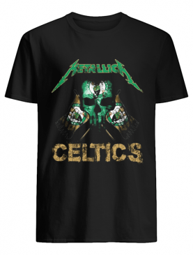 Skull metallica boston celtics flag shirt