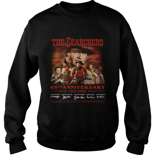 The Searchers 65th Anniversary 1955 2020 Signature Thank You For The Memories  Sweatshirt