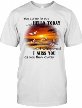 You Came To Say Hello Today I Whispered I Miss You As You Flew Away Dragonfly T-Shirt