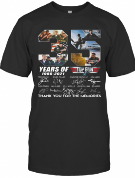 35 Years Of 1986 2021 Top Thank You For The Memories Signatures T-Shirt