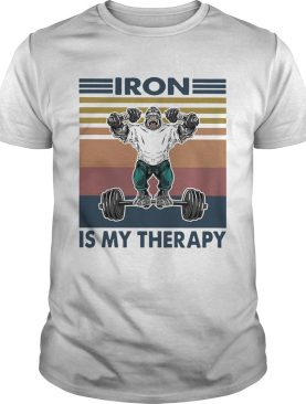 Gorilla Iron Is My Therapy Fitness Vintage shirt