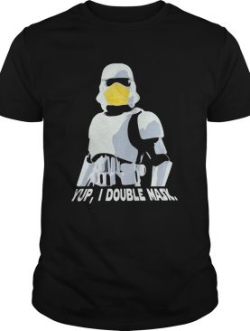 Star wars darth vader yup i double mask shirt