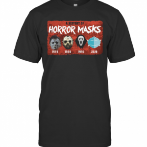 A History Of Horror Masks 1976 1980 1996 2020 T-Shirt Classic Men's T-shirt