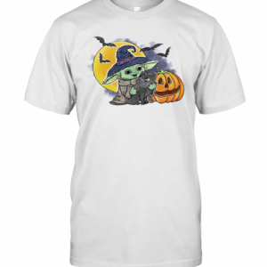 Baby Yoda Hug Cat Halloween T-Shirt Classic Men's T-shirt