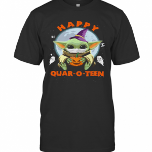 Baby Yoda Hug Pumpkin Happy Quar O Teen T-Shirt Classic Men's T-shirt