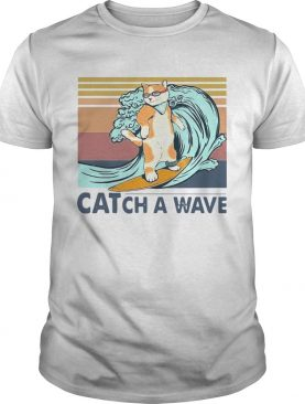 Cat Surfing Catch A Wave Vintage shirt