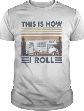 Compact van this is how i roll vintage retro shirt