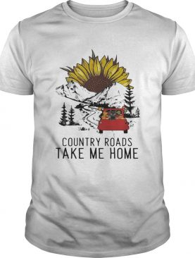 Country Roads Take Me Home Cat Truck Sunflower shirt