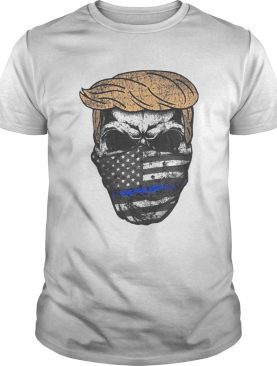 Donald trump skull mask back the blue american flag independence day shirt