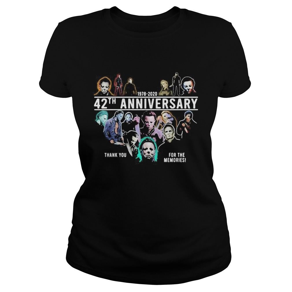 Halloween michael myers 1978 2020 42th anniversary thank you for the memories Classic Ladies