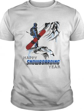 Happy snowboarding year mountain shirt