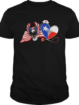 The Heart Nurse Eagle American Flag shirt