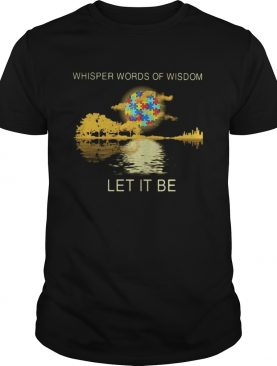 Whisper words of wisdom Let it be Moon autism guitar shirt