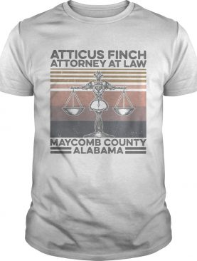 Atticus finch attorney at law maycomb alabama vintage shirt