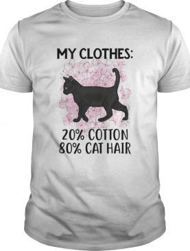 Black Cat and Cherry Blossom My clothes 20 cotton 80 cat hair shirt