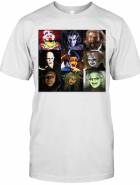 Funny Horror Characters Face Halloween T-Shirt