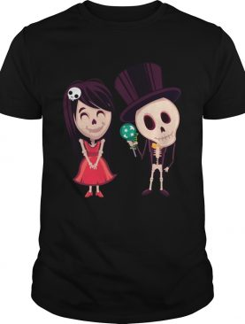 Halloween Day Of The Dead Skeleton Couple shirt