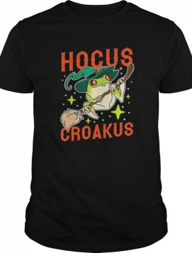 Hocus Croakus Frog Witch Halloween shirt