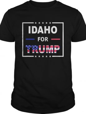 Idaho Votes For Trump American flag shirt