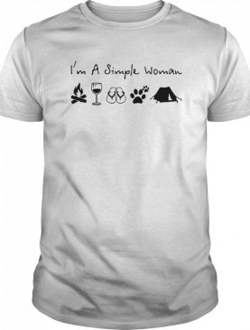 Im A Simple Woman Campfire Wine Flip Flops Dog And Tent shirt