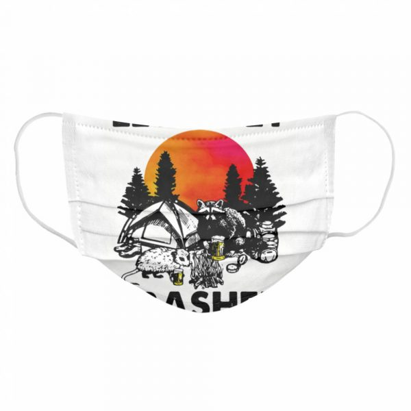 Raccoon let's get trashed sunset  Cloth Face Mask
