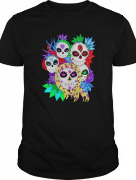 Skull Family Colorful Day Of The Dead shirt