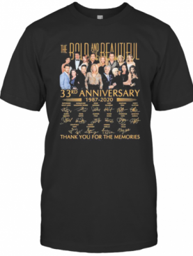 The Bold And The Beautiful 33Rd Anniversary 1987 2020 Thank For The Memories Signatures T-Shirt