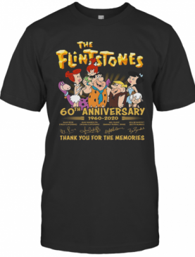 The Flintstones 60Th Anniversary 1960 2020 Thank You For The Memories Signature T-Shirt