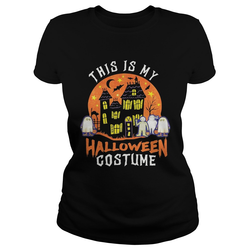 This Is My Halloween Costume Boo Ghost  Classic Ladies