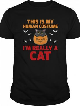This Is My Human Costume I'm Really A Cat Halloween shirt