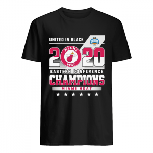 United in black 2020 eastern conference champions miami heat stars  Classic Men's T-shirt